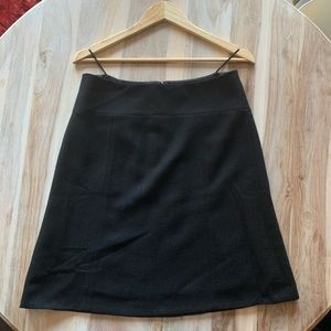 JCrew Factory Classic Black Wool Skirt